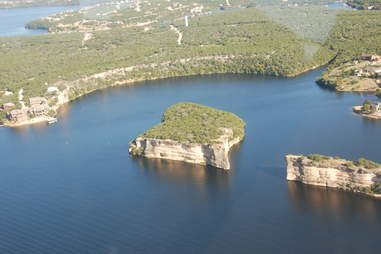 Arial view of Possum Kingdom Lake