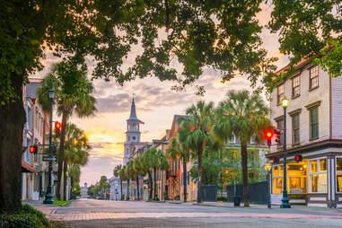 Historical downtown area of Charleston, South Carolina