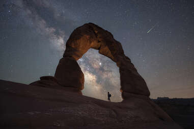 Arches National Park at night