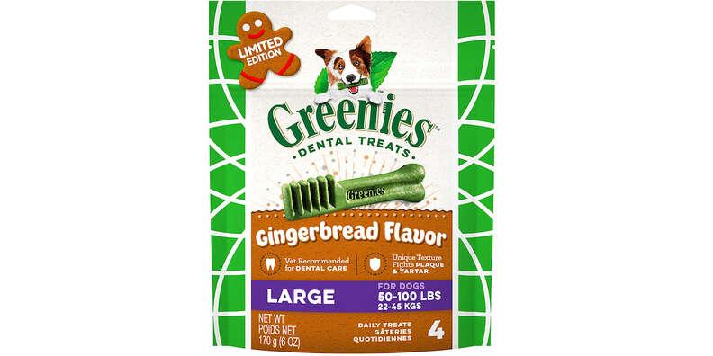 greenies gingerbread dog dental treats