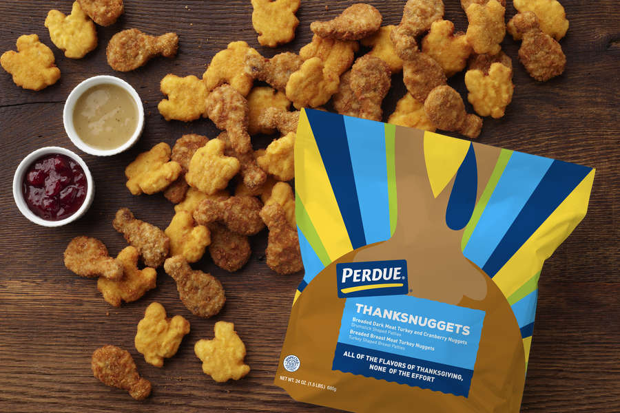 Perdue's New Thanksgiving-Inspired Nuggets Taste Like Turkey & Stuffing