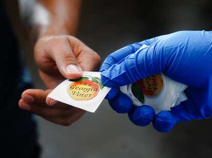 """I'm a Georgia Voter"" sticker"