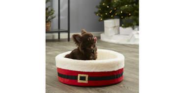 christmas dog bed cat pet holidy