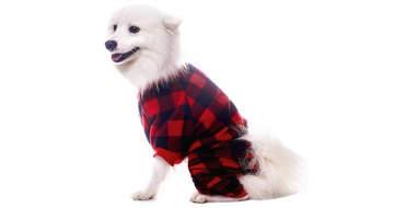 SCENEREAL Red Plaid Pet Pajamas