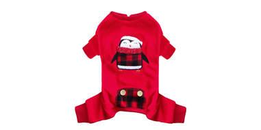 kyeese Dog Pajama Penguin Red Buffalo
