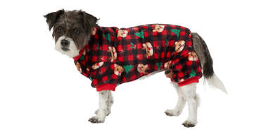 Frisco Reindeer Plaid Cozy Fleece PJs