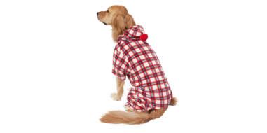 Wagatude Red Plaid Pom Dog Pajama
