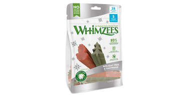 WHIMZEES Holiday Tree & Snowman Variety Pack Dental Dog Treats