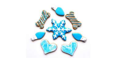 Winter Dog Cookies