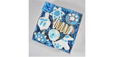 Mini 7-Piece Hanukkah Dog Treat Assortment