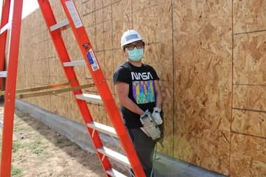 Houston Habitat for Humanity worker
