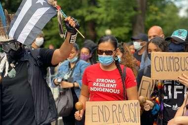 Redhawk Native American Arts Council protest event