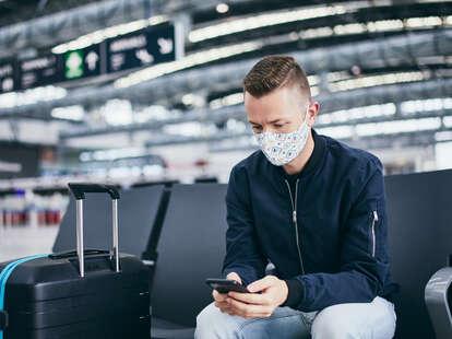 man traveling during a pandemic