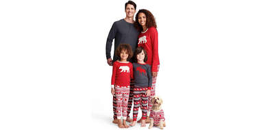 matching dog pajamas cat owners holidays