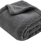 Extra Thick Snuggly Sherpa Dog Blanket