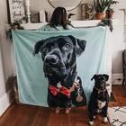 Custom Pet Photo Blanket