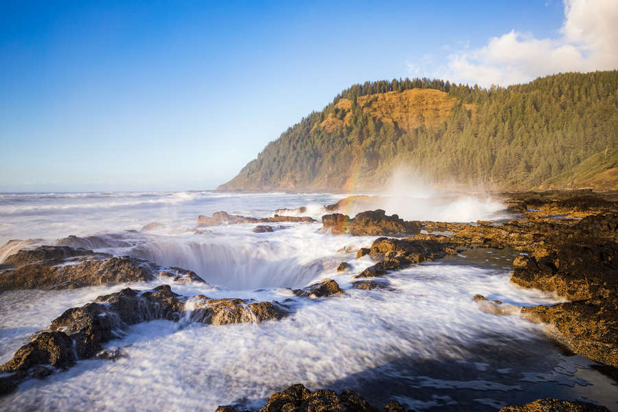There's A Giant Hole in the Ocean on the Oregon Coast