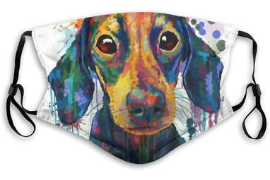 Artsy Puppy Face Mask
