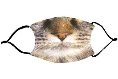 Grey Cat Mouth Face Mask