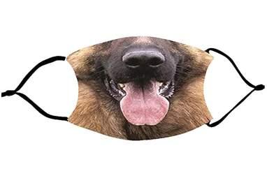 German Shepherd Mouth Face Mask