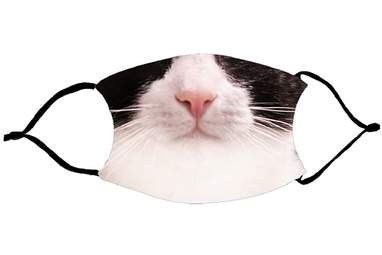 Black-And-White Cat Mouth Face Mask