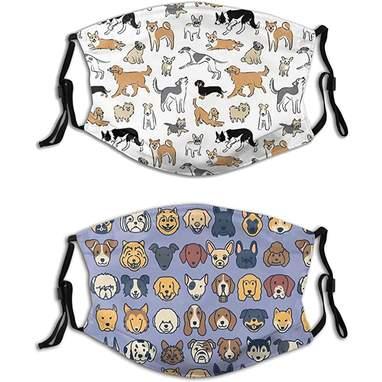 2-Pack Of Cartoon Dog Masks