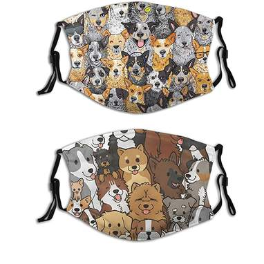 2-Pack Crowd Of Dogs Masks