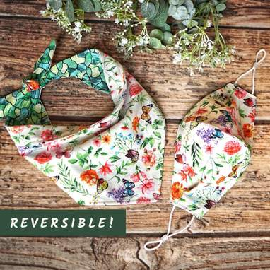 Reversible Bandana With Matching Mask