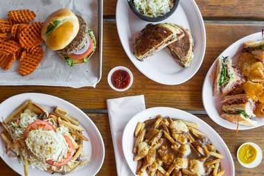 Haymaker sandwiches and fries