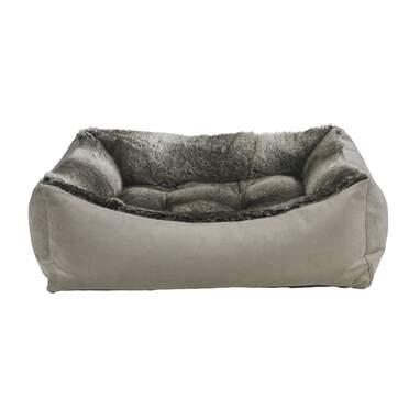 Chinchilla Faux Fur Scoop Dog Bed