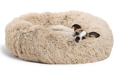 The Original Calming Shag Donut Cuddler Dog Bed