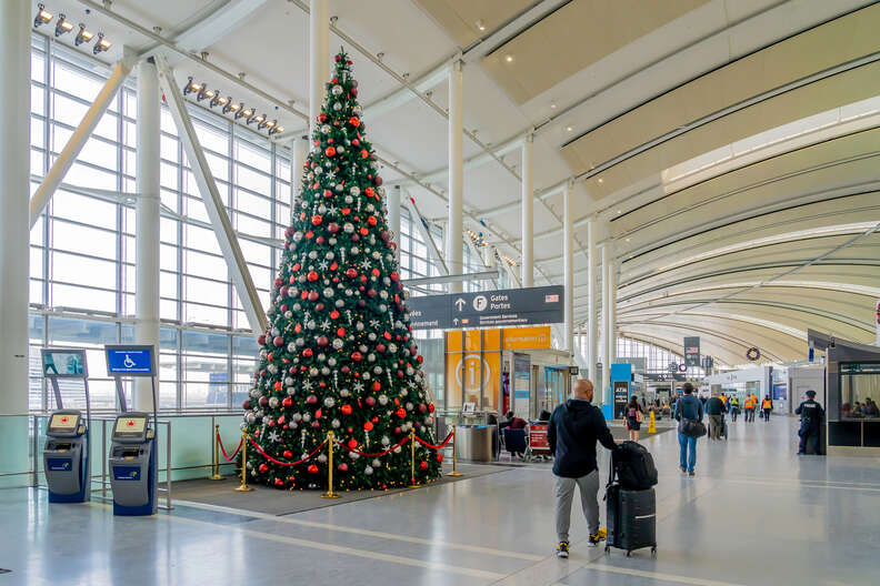 Airport at Christmastime