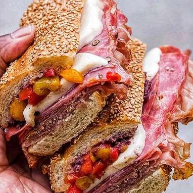 """""""The Pinocchio"""" Prosciutto + Soppressata + Mozzarella Sandwich Kit - 4 Pack"""