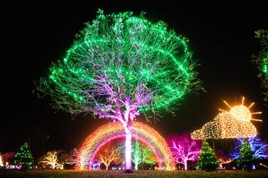 Trail of lights display