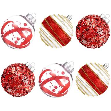 Shatterproof Decorative Red Christmas Ball Ornaments