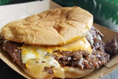 dirty flat top burger
