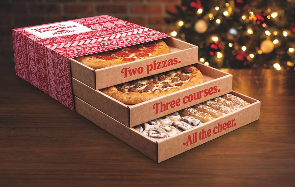 Pizza Hut Christmas Day 2021 Pizza Hut S Triple Treat Box What S Included In The Holiday Promo Box Thrillist
