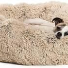 Shag Donut Cuddler Dog Bed