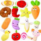 14-Pack Plush Squeaky Toys