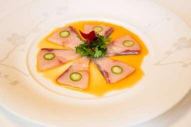 Nobu yellowtail sashimi