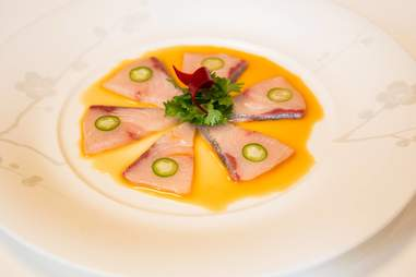 Nobu yellowtail sashimi