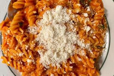 spicy fusilli