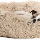 Original Calming Shag Donut Dog Bed