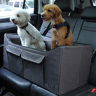 Petsfit Two-Dog Car Booster Seat