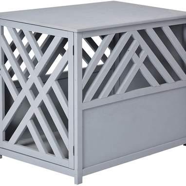 Natural Diagonal Dog Crate