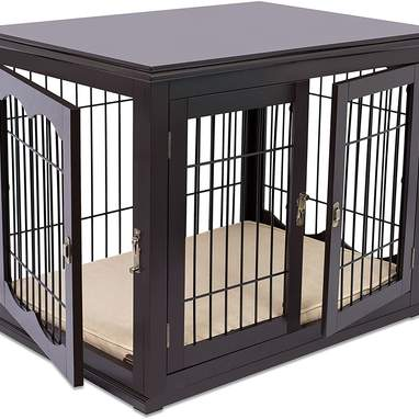 Decorative Dog Kennel With Pet Bed