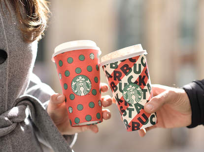 Cheersing with Starbucks holiday cups