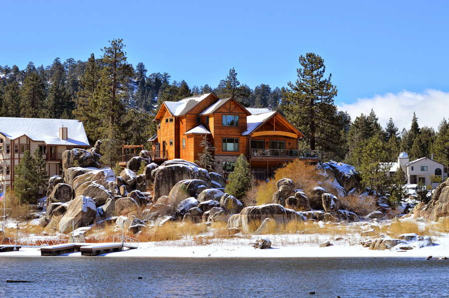This Mountain Lake Escape Is the Winter Wonderland Reset You Need