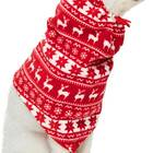 Blueberry Pet Ugly Christmas Holiday Reindeer & Snowflake Dog Fleece Snood