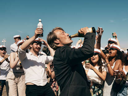 another round, mads mikkelsen drinking champagne